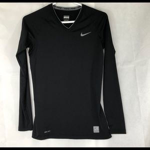 Nike Black with Gray Nike Stamp Dri-Fit Top